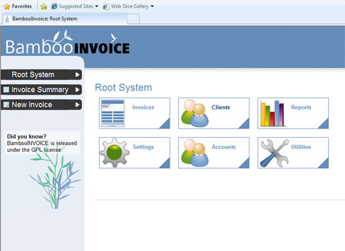 Create Invoices on the web with Bamboo Invoice