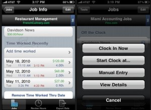 HoursTracker - Keep Track of Hours Worked on the iPhone