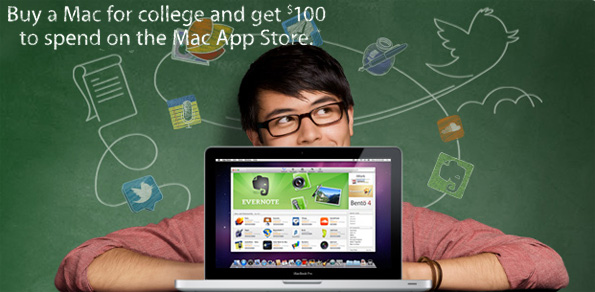 Get a one hundred dollar voucher for purchasing a Mac as a student
