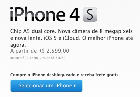 iPhone 4S in Brazil and 20 other countries