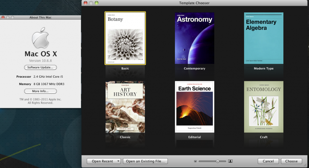 Run and install iBooks Author on Snow Leopard