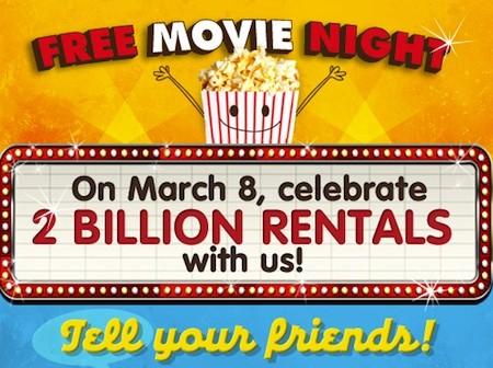 Redbox Promo Code for Free Rental To celebrate 2 billion markk