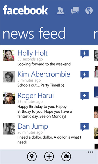 Facebook for Windows Phone Update