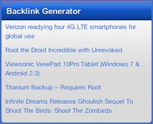 Mofiki's Backlink Generator WordPress Plugin