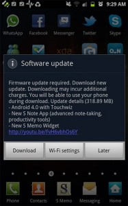 Galaxy Note gets Ice Cream Sandwich 4.0.3 update