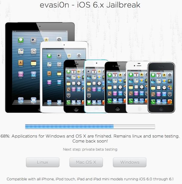 Evad3rs Jailbreak Tool for iOS 6 through 6.1 called Evasi0n