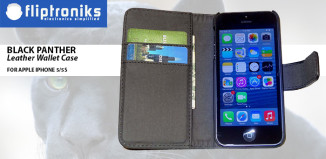 Fliptroniks iPhone 5 & 5s Black Panther Leather Wallet Case Review